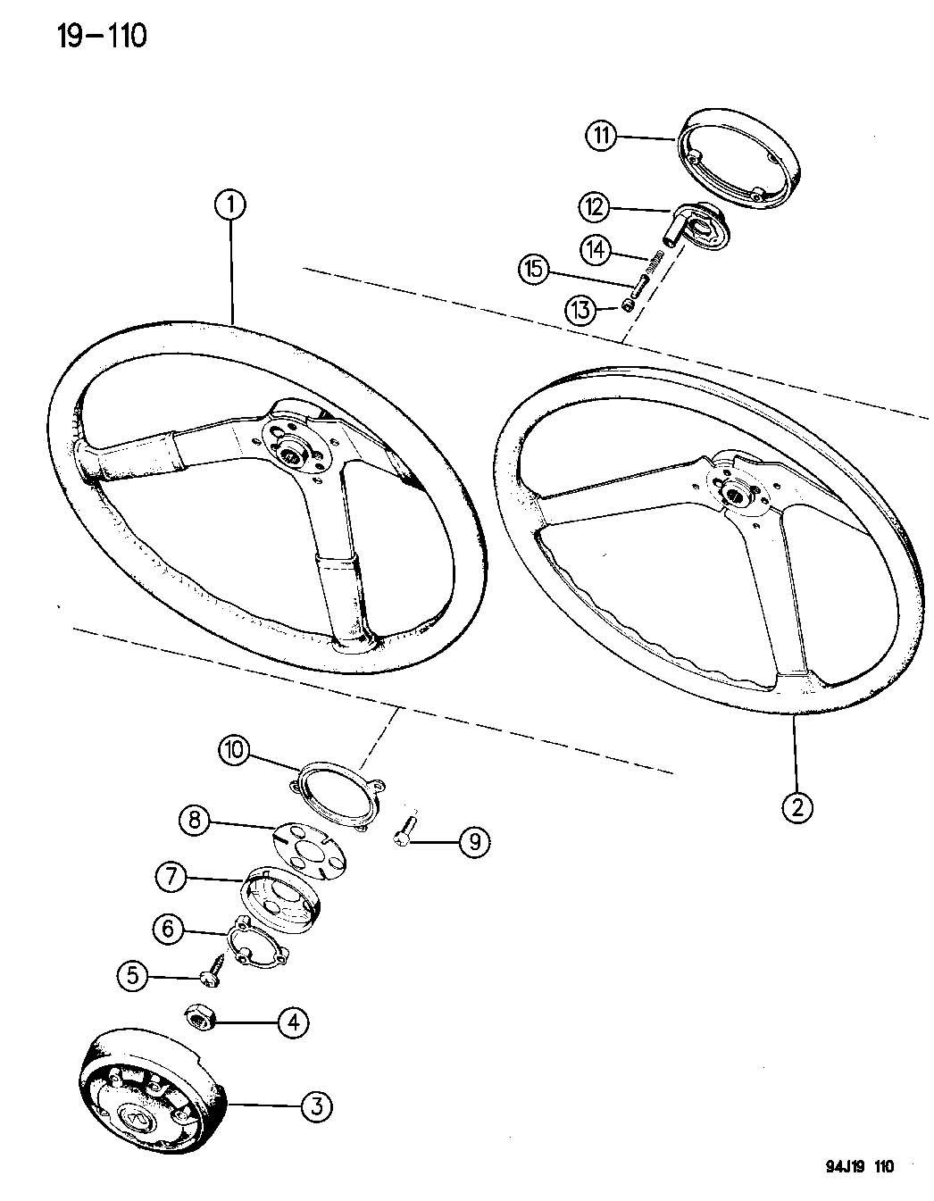 Wheel Steering Wrangler Yj