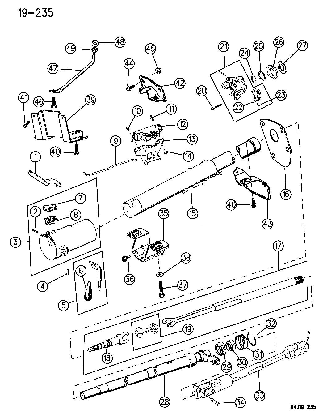 Service manual [1994 Jeep Wrangler Dash Removal Diagram