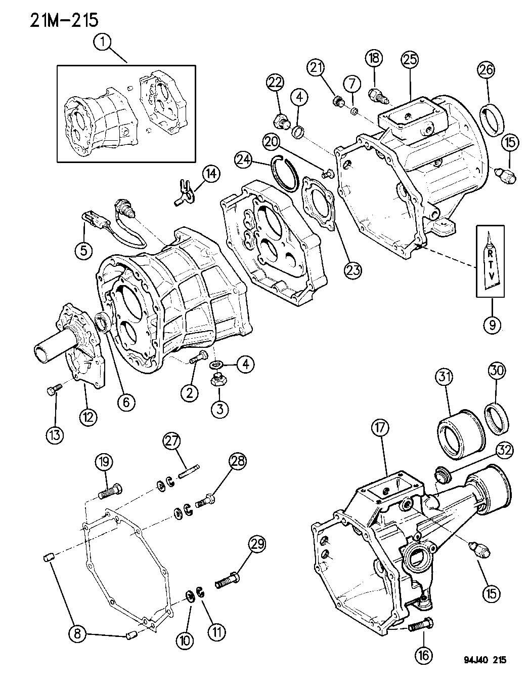Jeep Wrangler Bolt Transmission Case Adapterextension