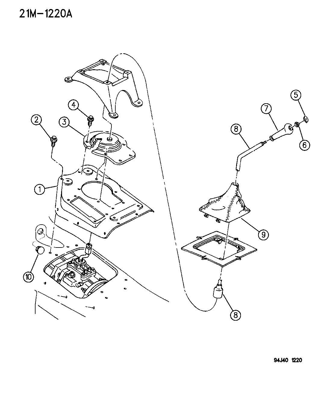 Service Manual Remove Jeep Grand Cherokee Floor Shift Lever