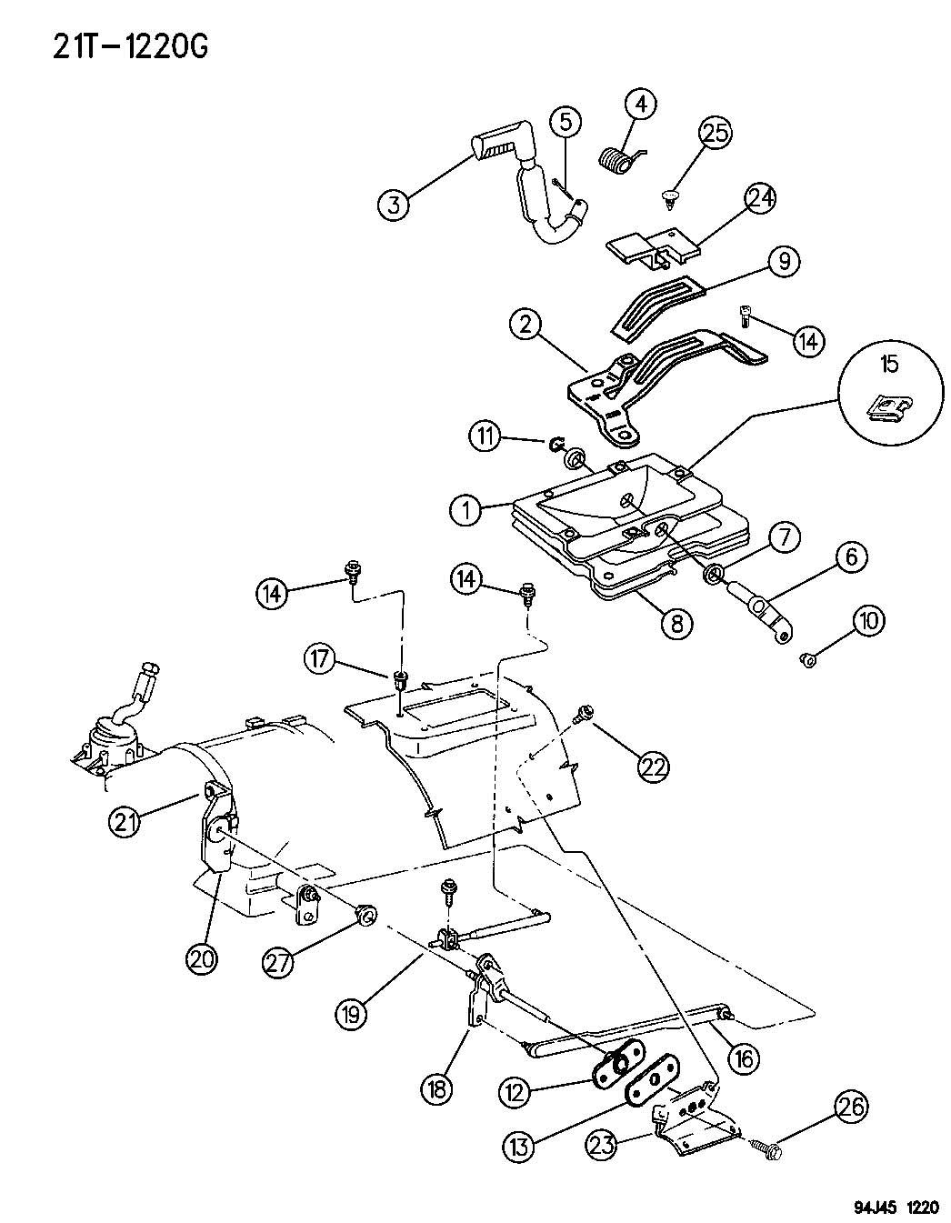 Jeep CONROLS SHIFT, SELECT TRACK, (DHP) GRAND CHEROKEE