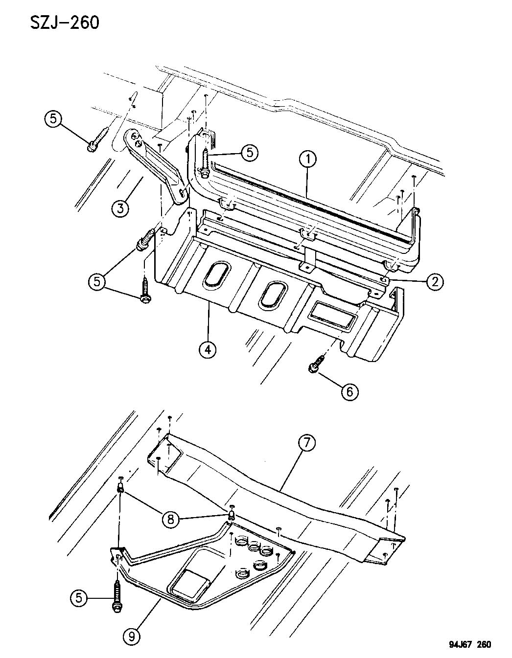 FRONT END SKID PLATES GRAND CHEROKEE, ZJ