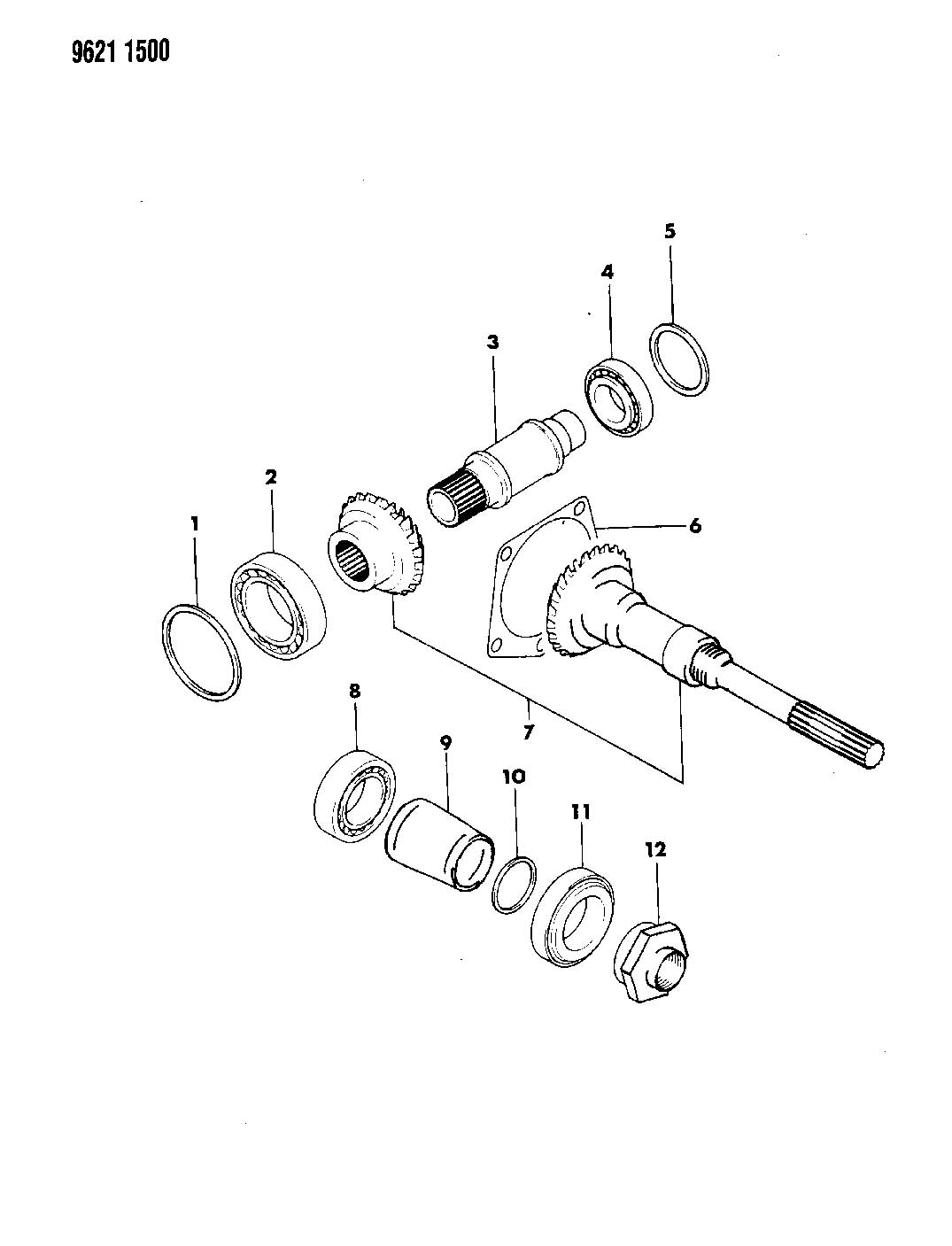 TRANSFER GEAR AND SHAFT MANUAL TRANSAXLE, 5 SPEED LASER