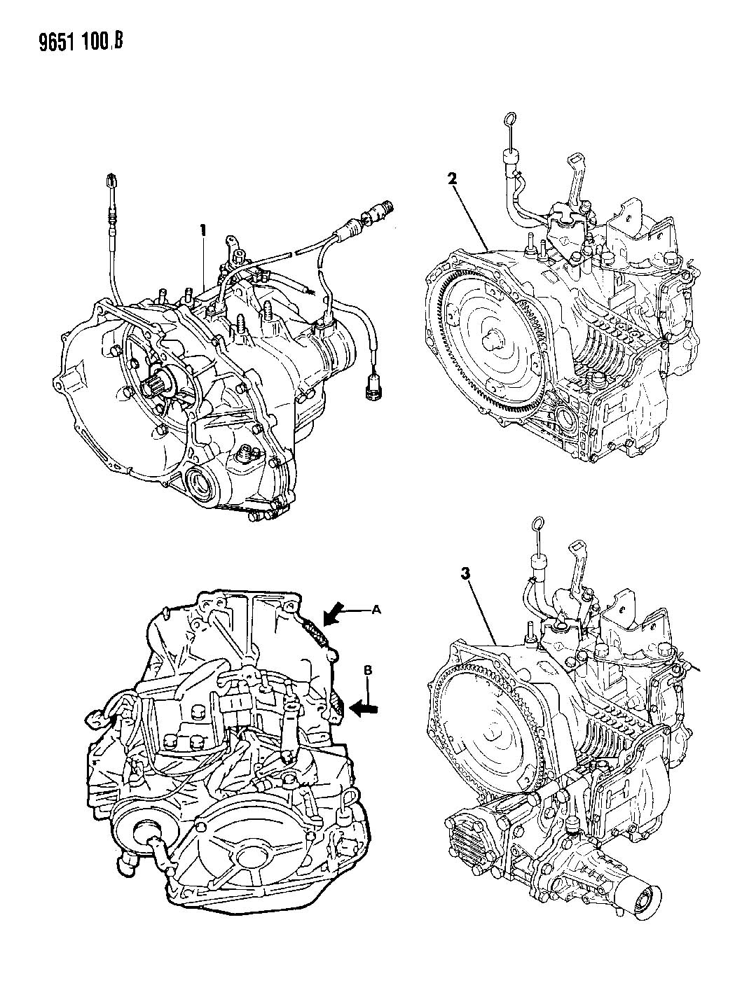 Service manual [Removing Transaxle From A 1992 Eagle