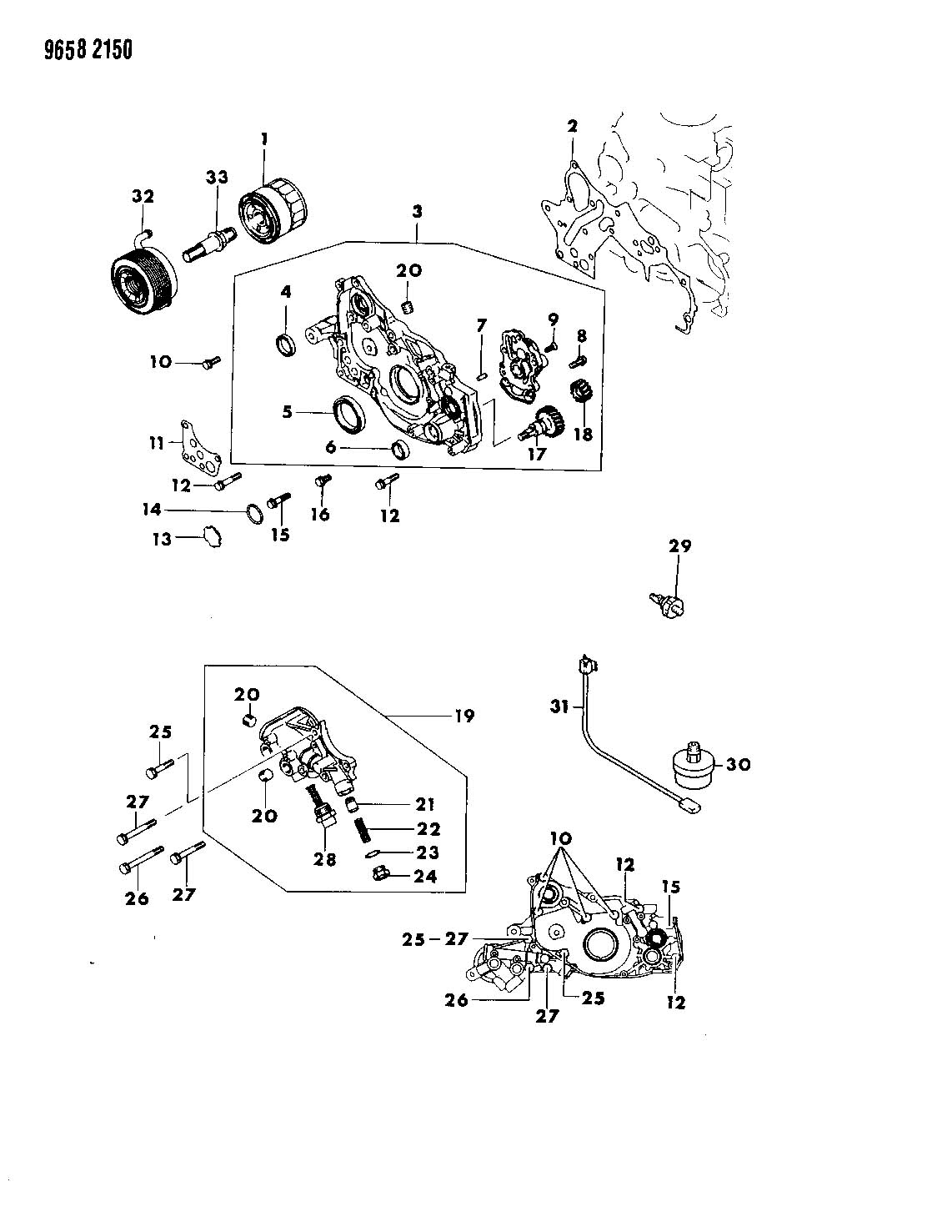 Chrysler Sebring Gear Oil Pump Ebg