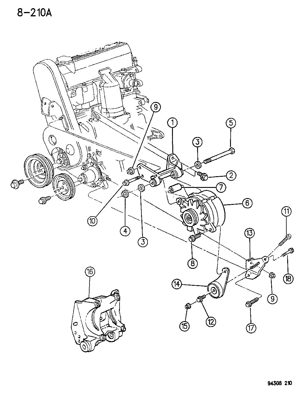 Alternator Mounting 2 5l Engine