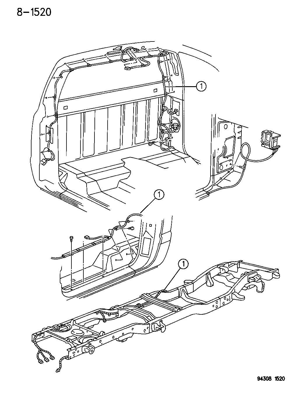 1995 Dodge Dakota Wiring, wiring assembly, anti-lock brake