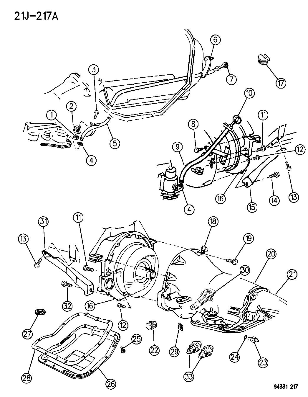 1997 Dodge Ram 46re Transmission Diagrams