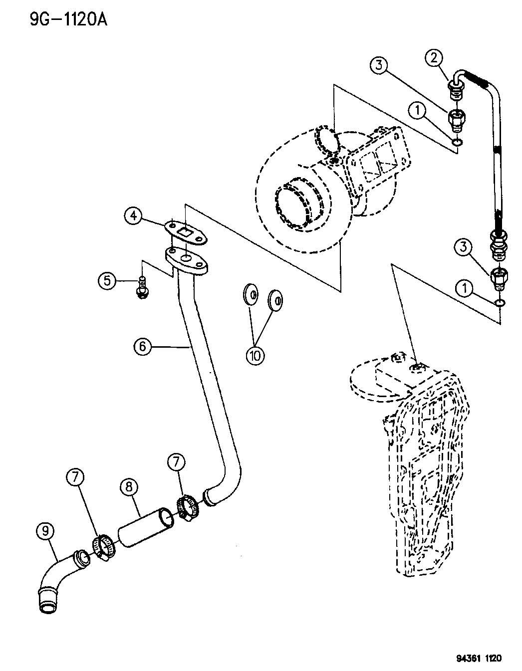 Dodge Ram O Ring Turbo Oil Drain Tube O Ring