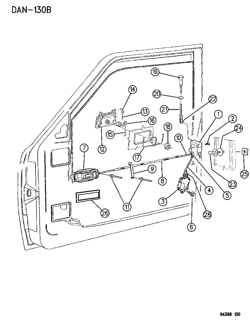 93 Dodge Dakota Door Handle Diagram, 93, Free Engine Image