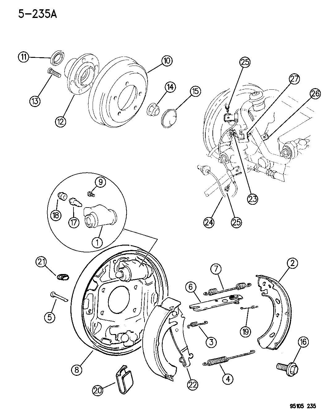 Chrysler Pt Cruiser Lock nut. Rear spindle. M20-1.50