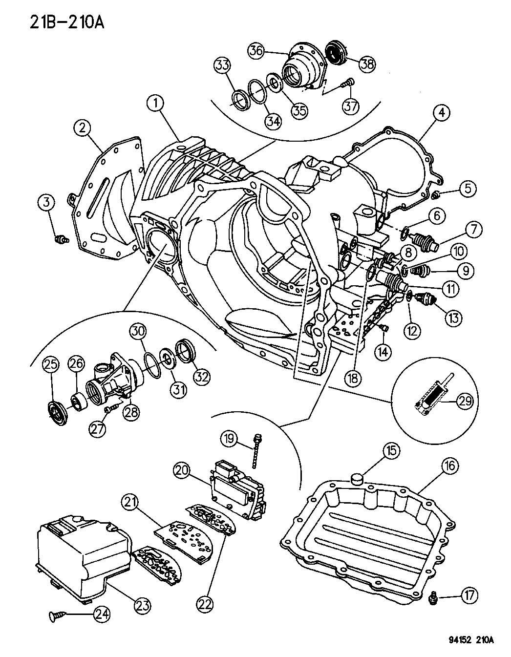 Chrysler Pacifica Solenoid Module Solenoid Package 41te