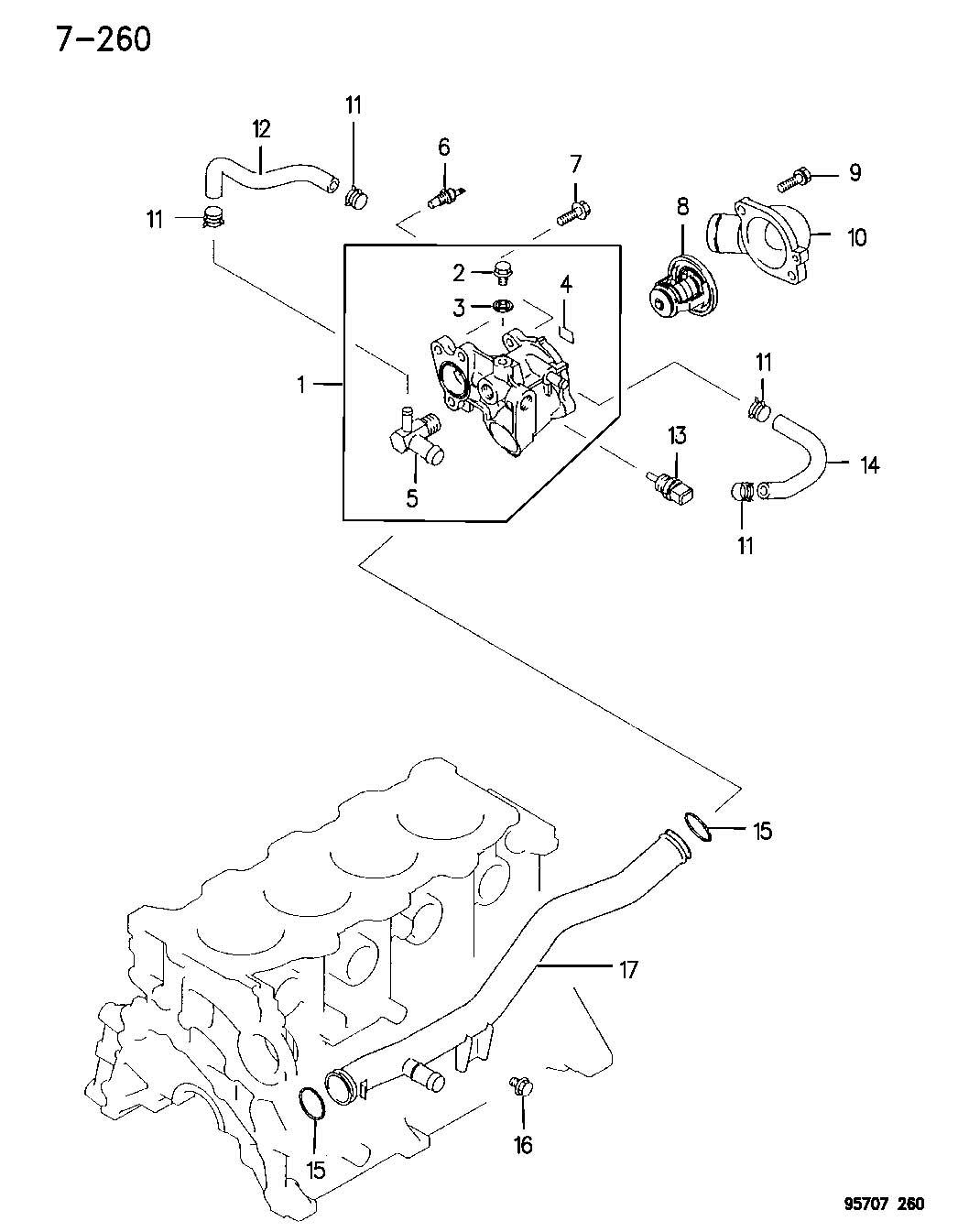 Dodge Stratus Gauge, sensor. Engine temperature