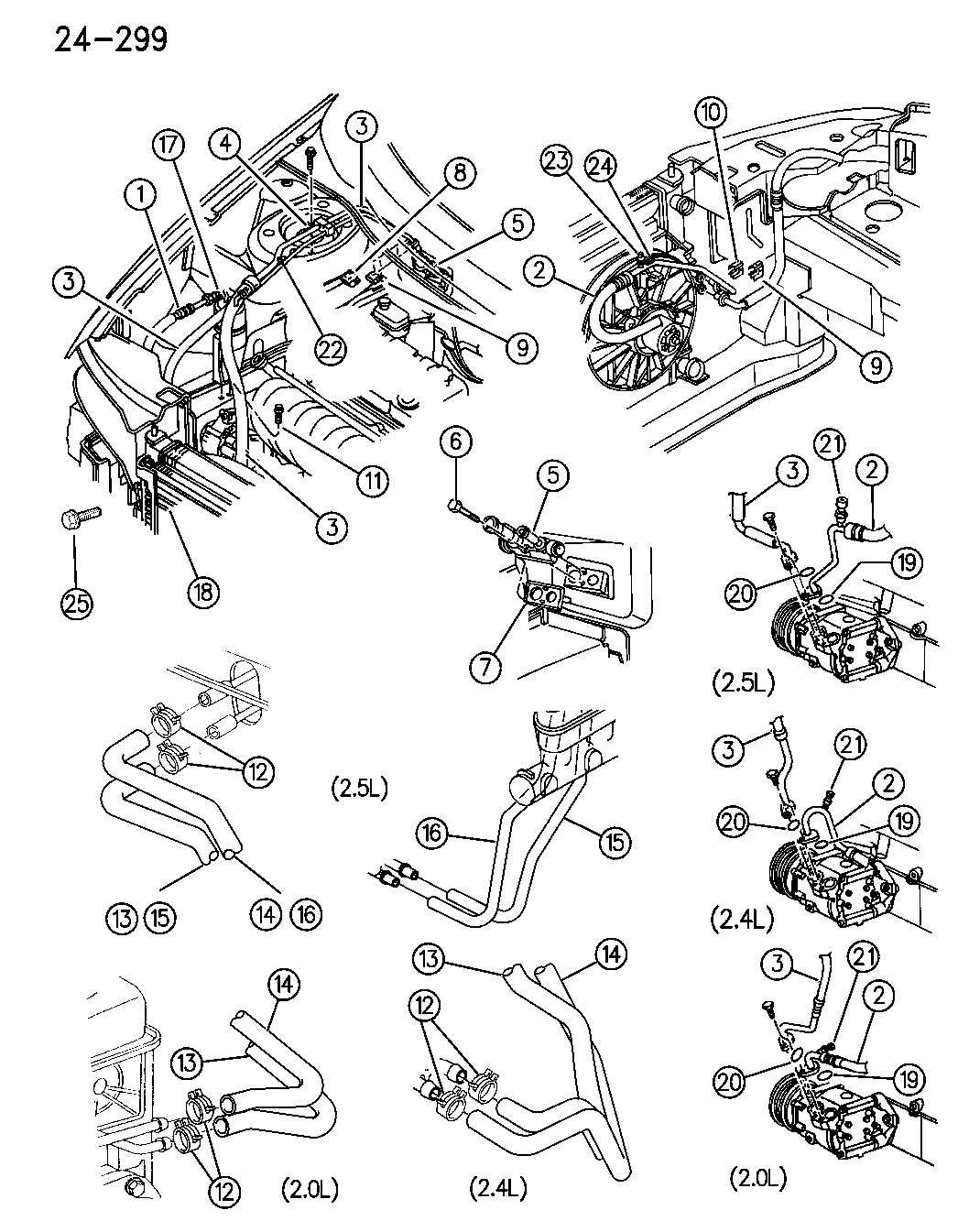 Service manual [1996 Chrysler Sebring Evaporator