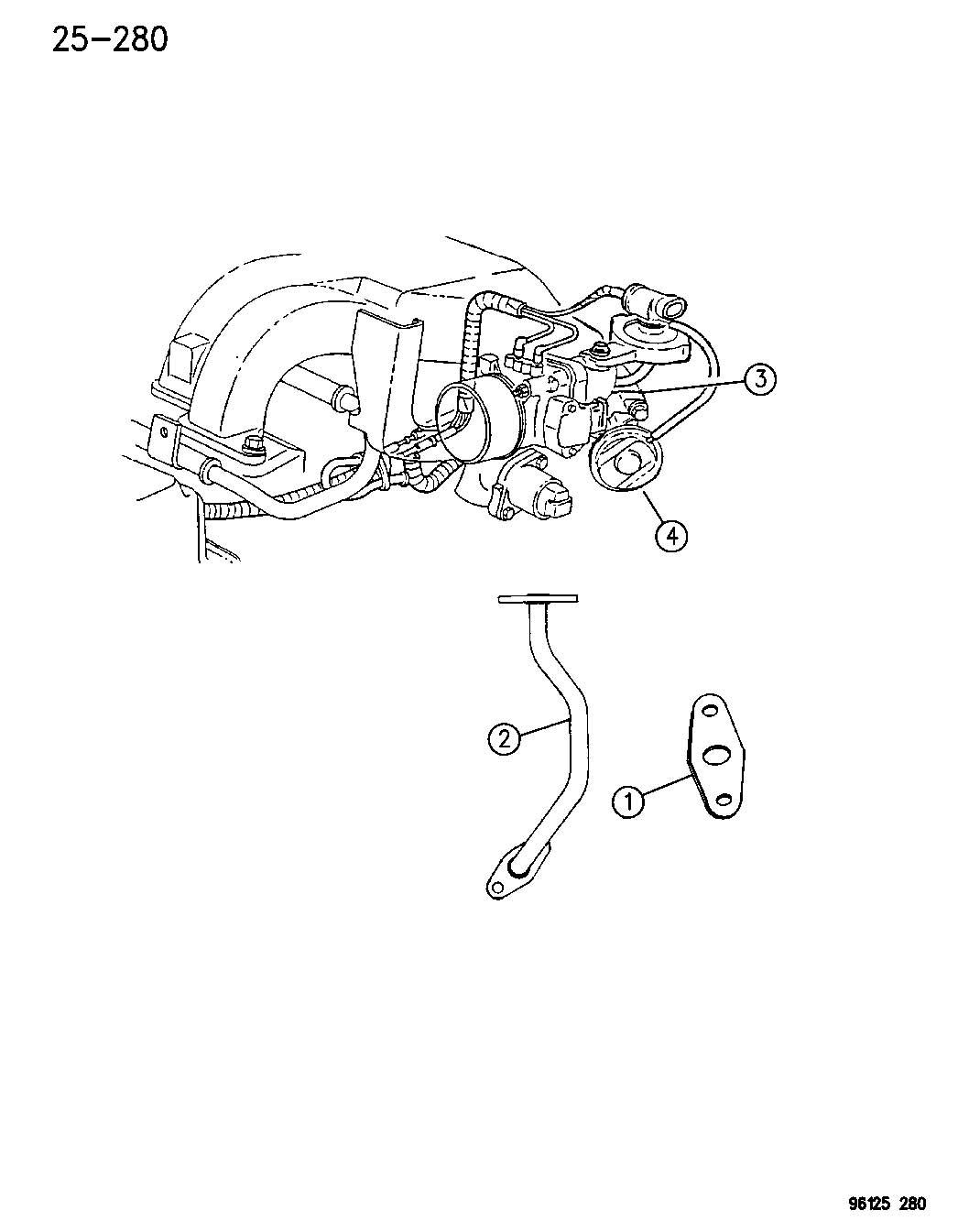 Chrysler 300 Gasket Egr Tube Flange 2 7l V6 Dohc 24