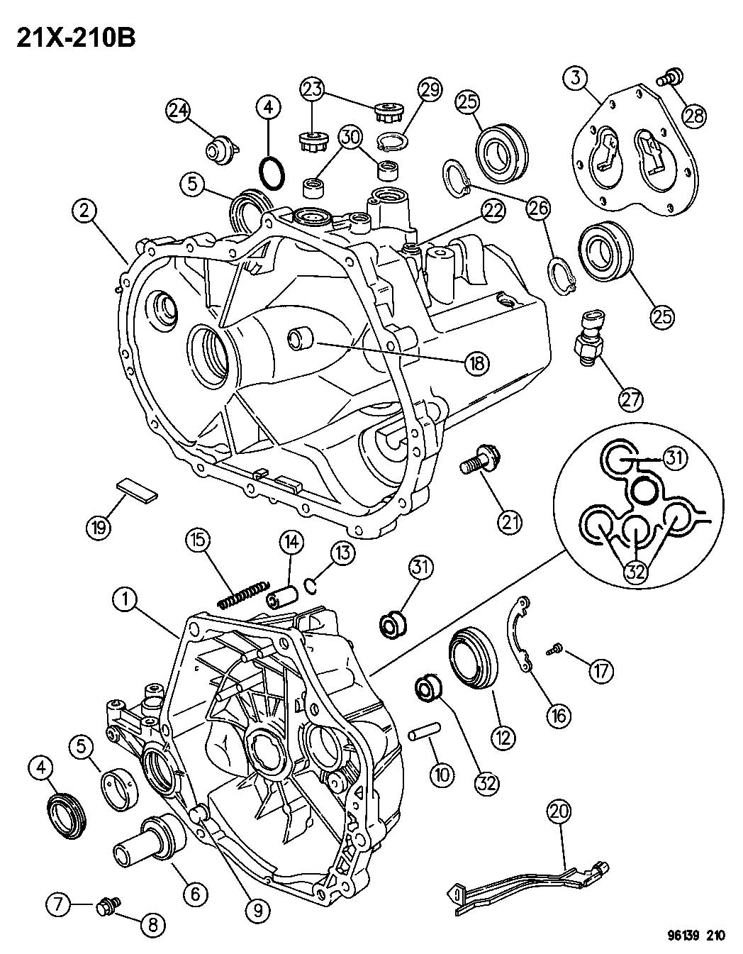 Chrysler Pt Cruiser Bearing, bearing assembly. Input