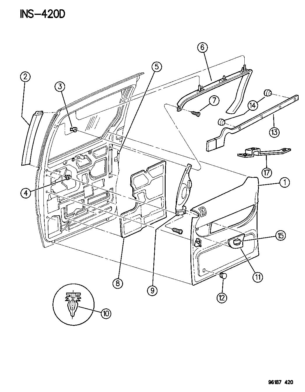 Chrysler Town & Country Bumper. Door ajar switch. Sliding