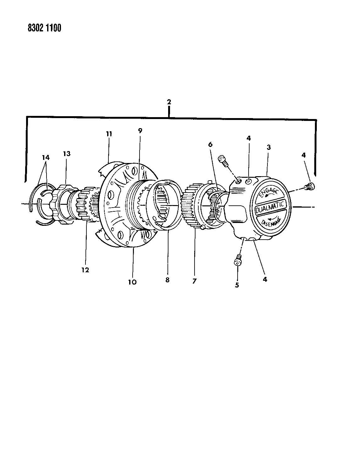 Dualmatic Locking Hub Parts