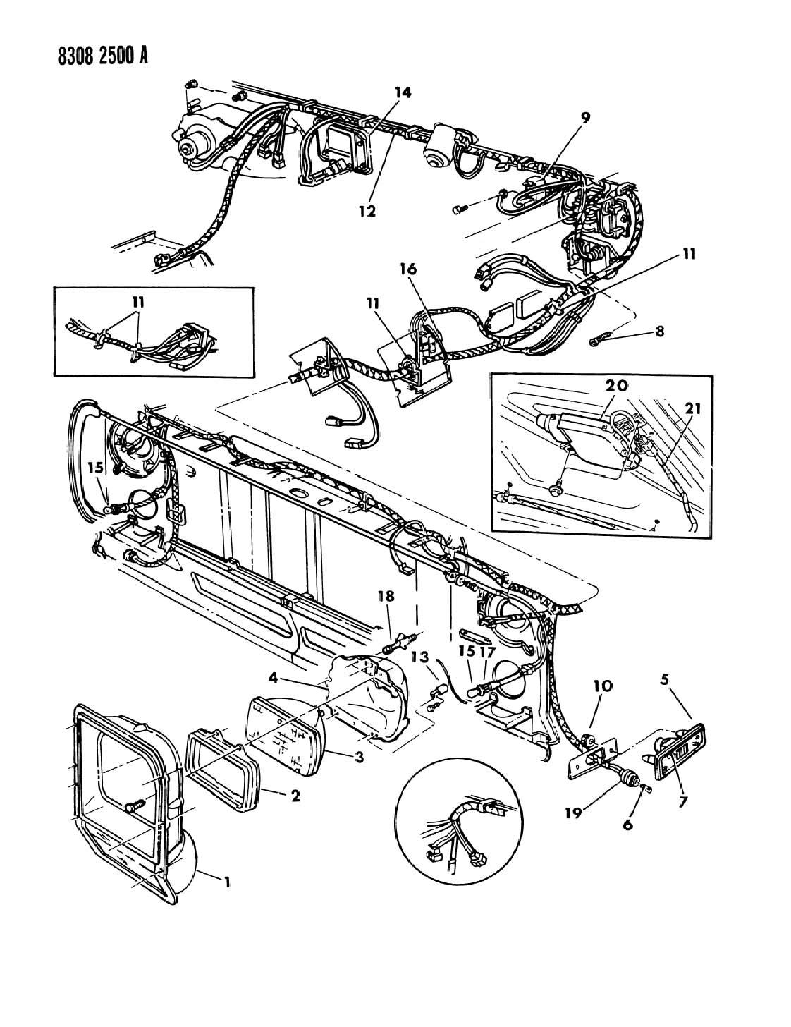 Dodge Lamps Amp Wiring Frt End D Models