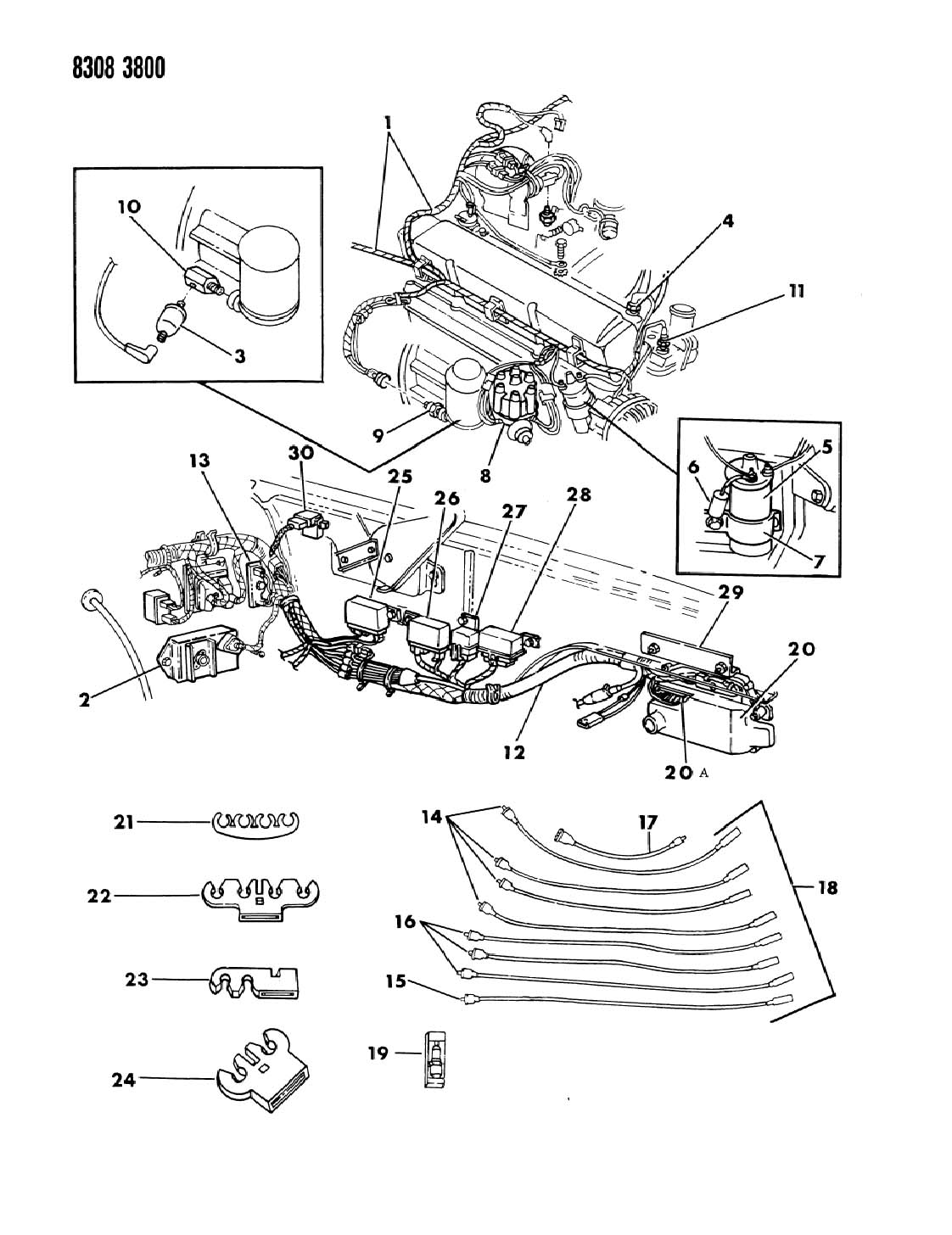 1990 Dodge Dakota Relay, starter, relays, starter, starter