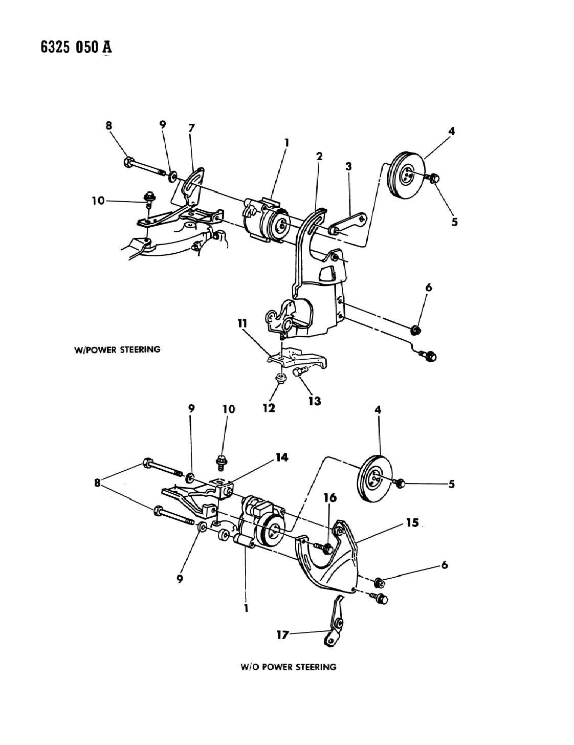 Dodge Dakota Air Pump 2 2l Engine