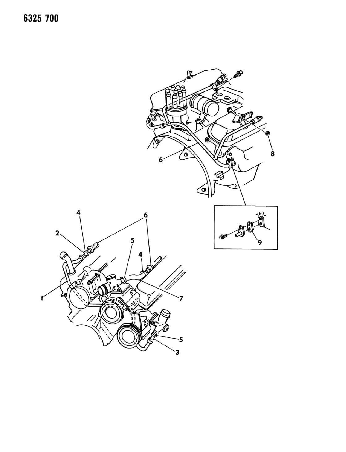 Dodge Air Pump Tubing
