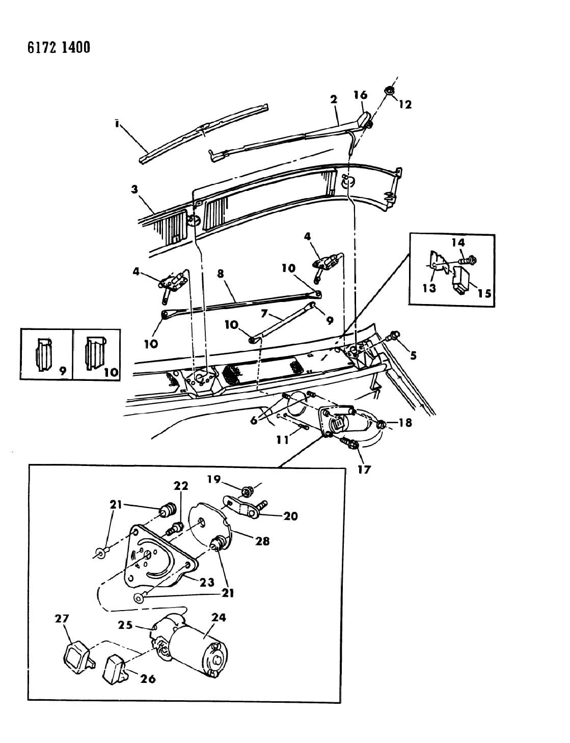 Plymouth Voyager Parts Diagram Wipers. Plymouth. Auto