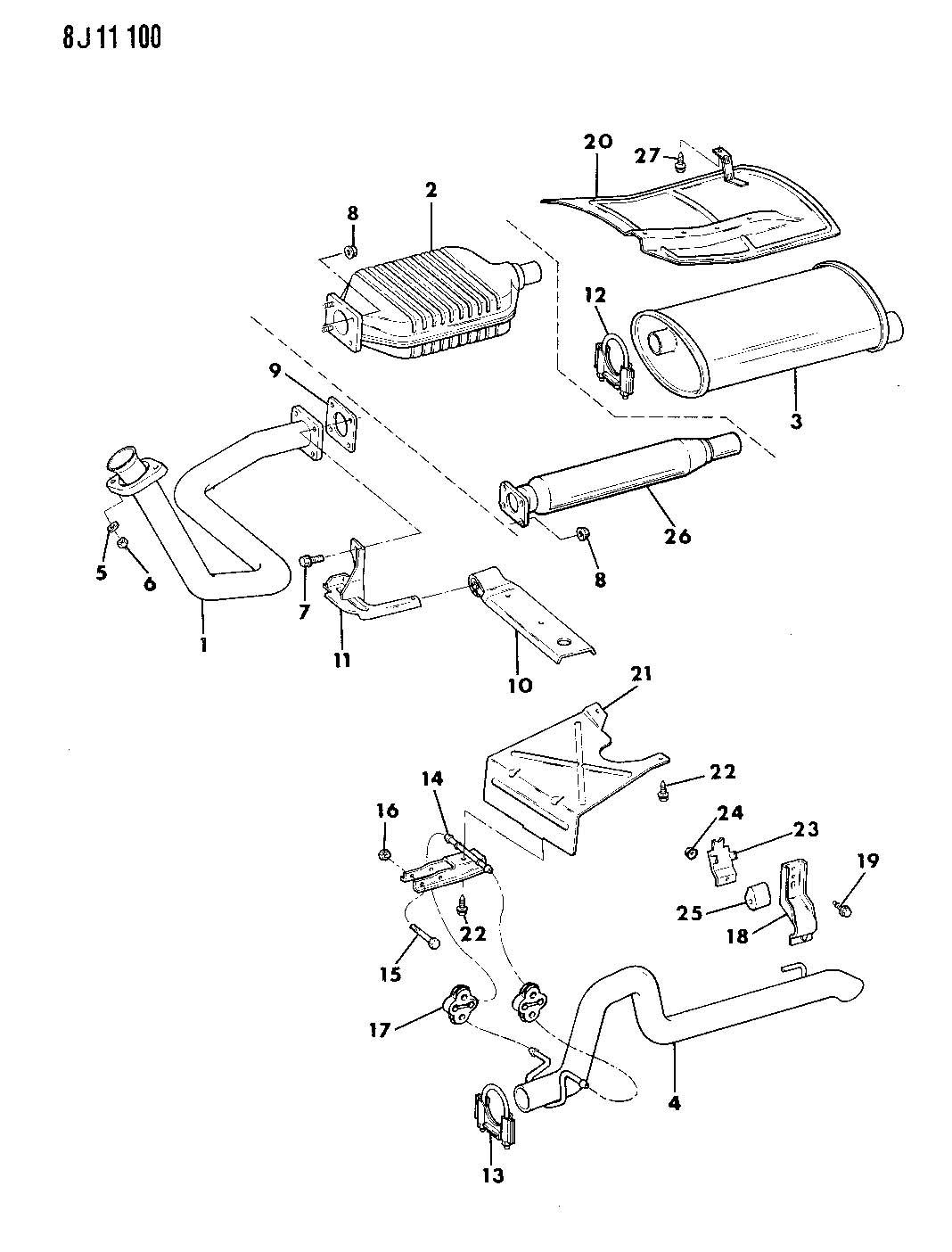 Jeep Exhaust System Wrangler Yj
