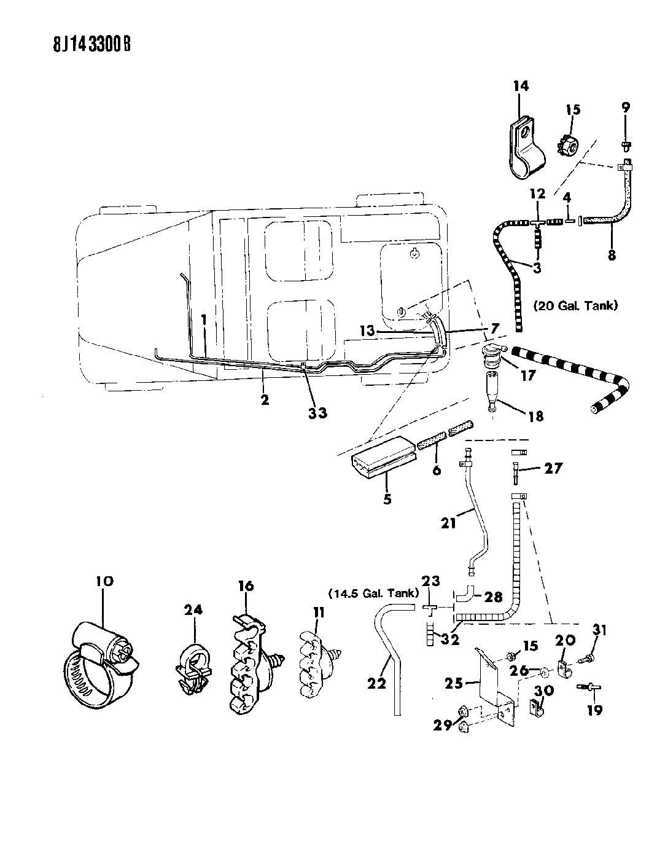 Jeep Wrangler Valve. Fuel tank rollover safety. Nrm