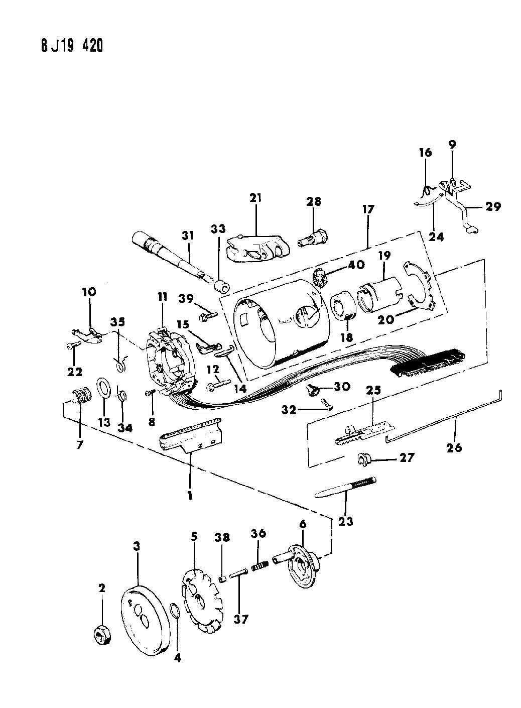 Jeep Steering Column Diagram
