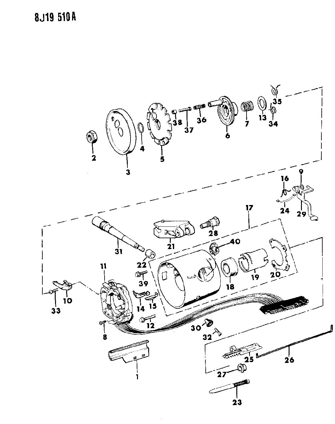 Housing Steering Column Upper W Floor Gear Shift W O Tilt