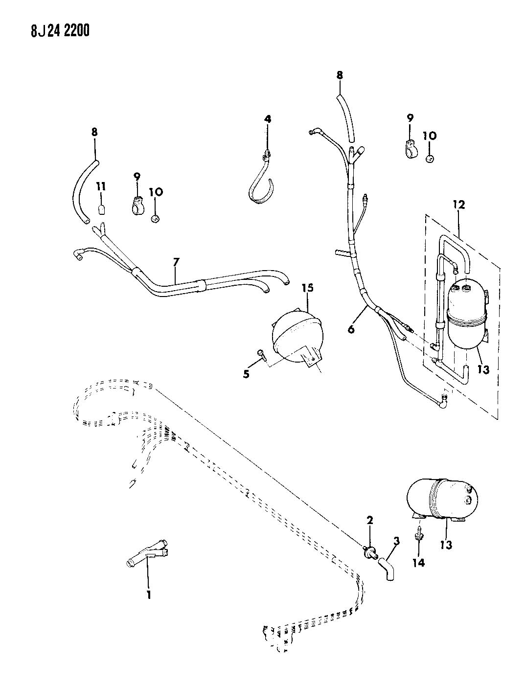 1987 Jeep LINES, HEATER AND AIR CONDITIONING VACUUM