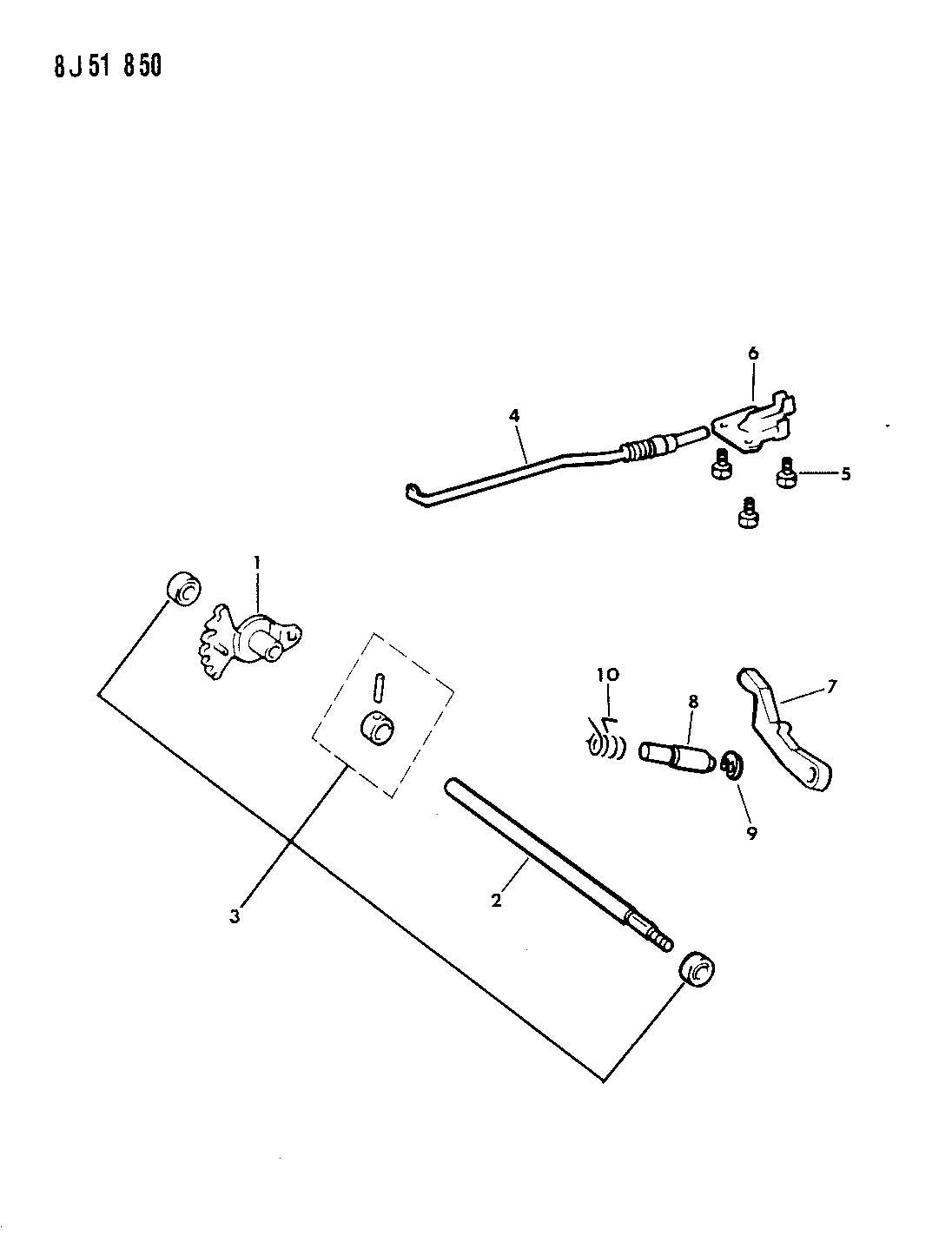 Jeep Cherokee Shaft. Manual valve. Shaft, shaft, manual