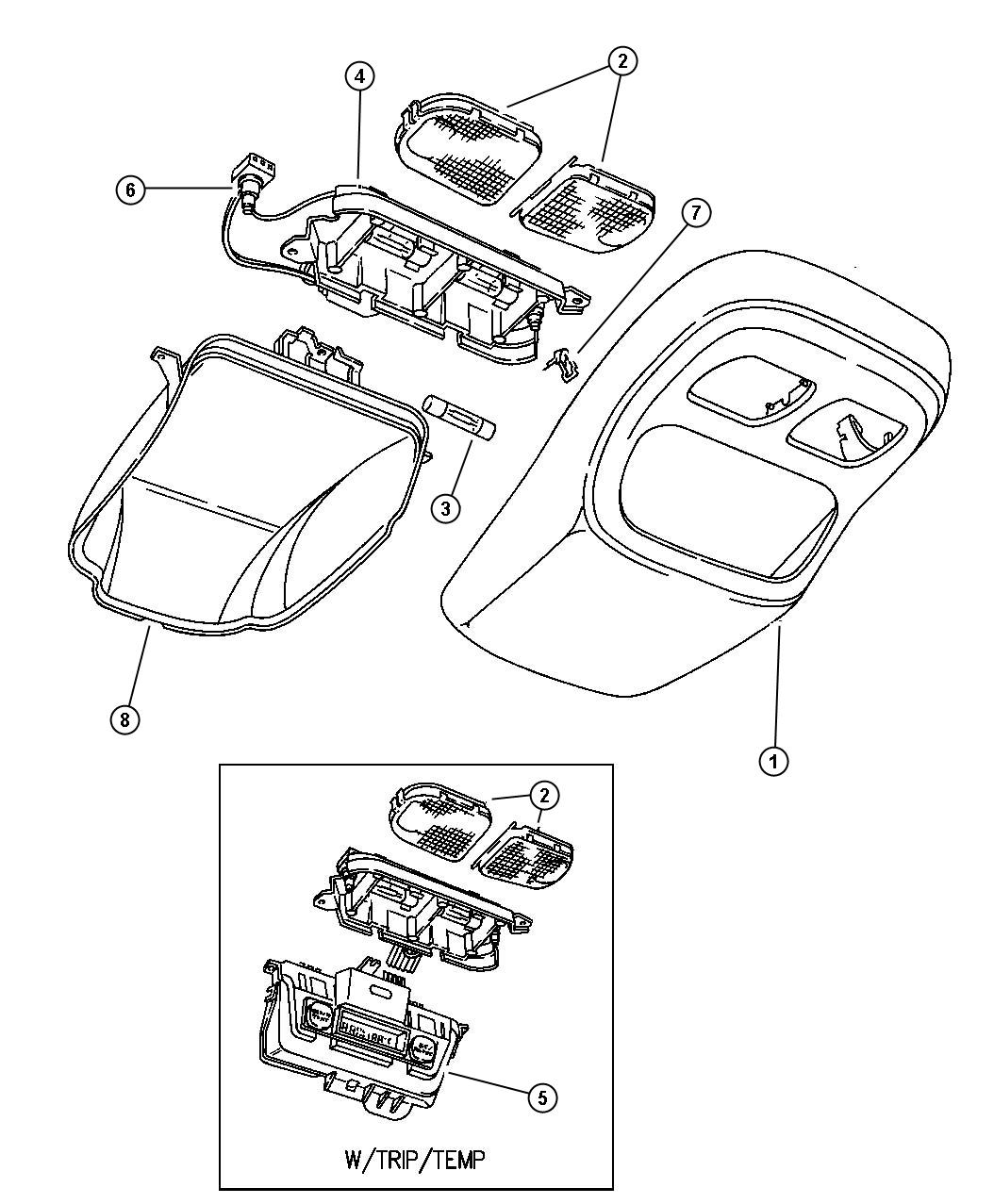 Service manual [1997 Plymouth Neon Overhead Console Repair