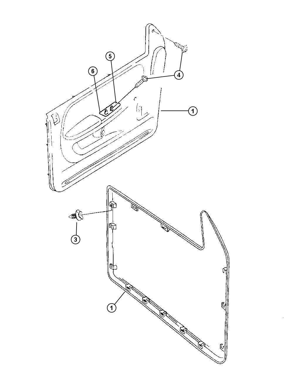 Dodge Ram Pin Door Panel Trim Seats