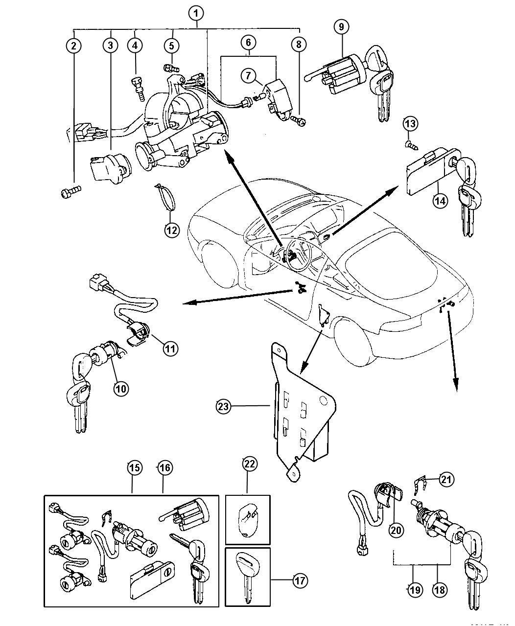 Dodge Ram Module Keyless Entry Receiver Receiver