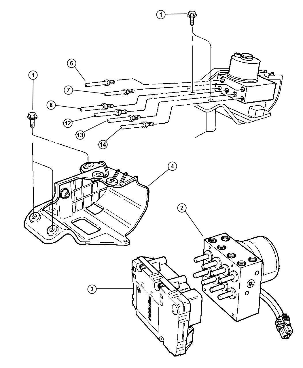 2000 Dodge Caravan Anti-lock Brake Control.