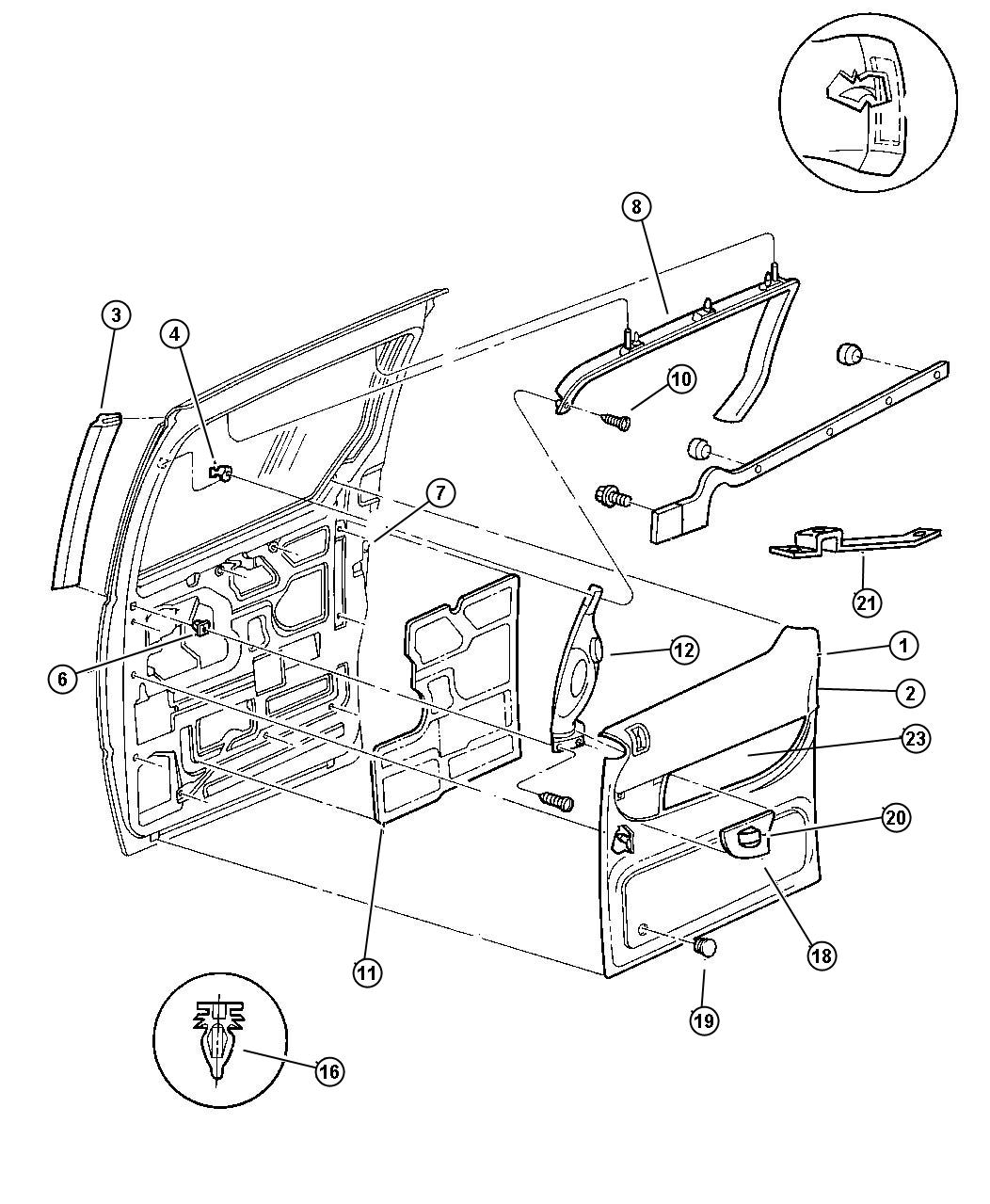 Service manual [Install Liftgate Handle 2000 Chrysler