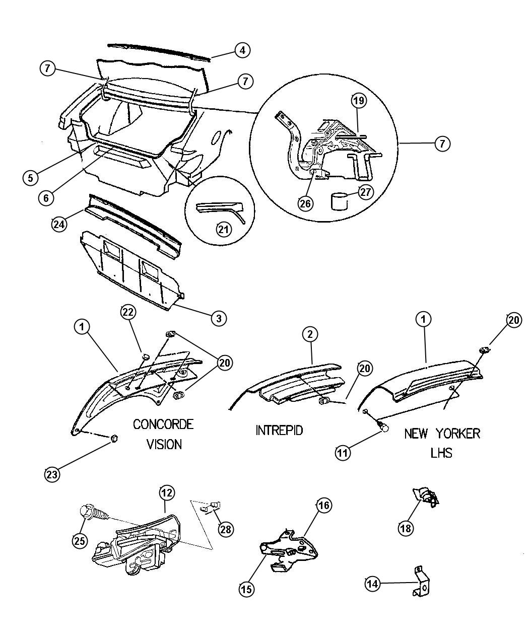 Service manual [1994 Eagle Vision Manual Wiring Sch