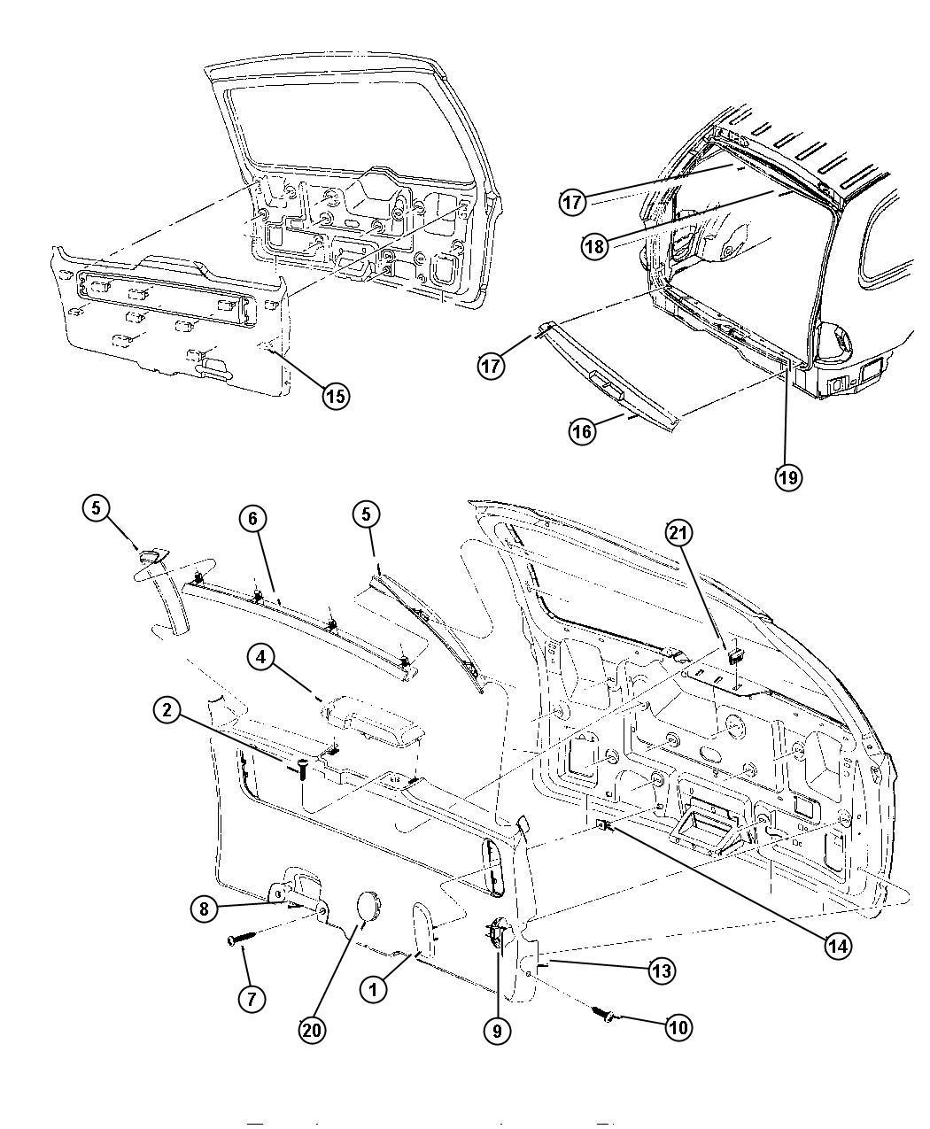 Plymouth Voyager Plug. Sliding door/liftgate. K5, medium