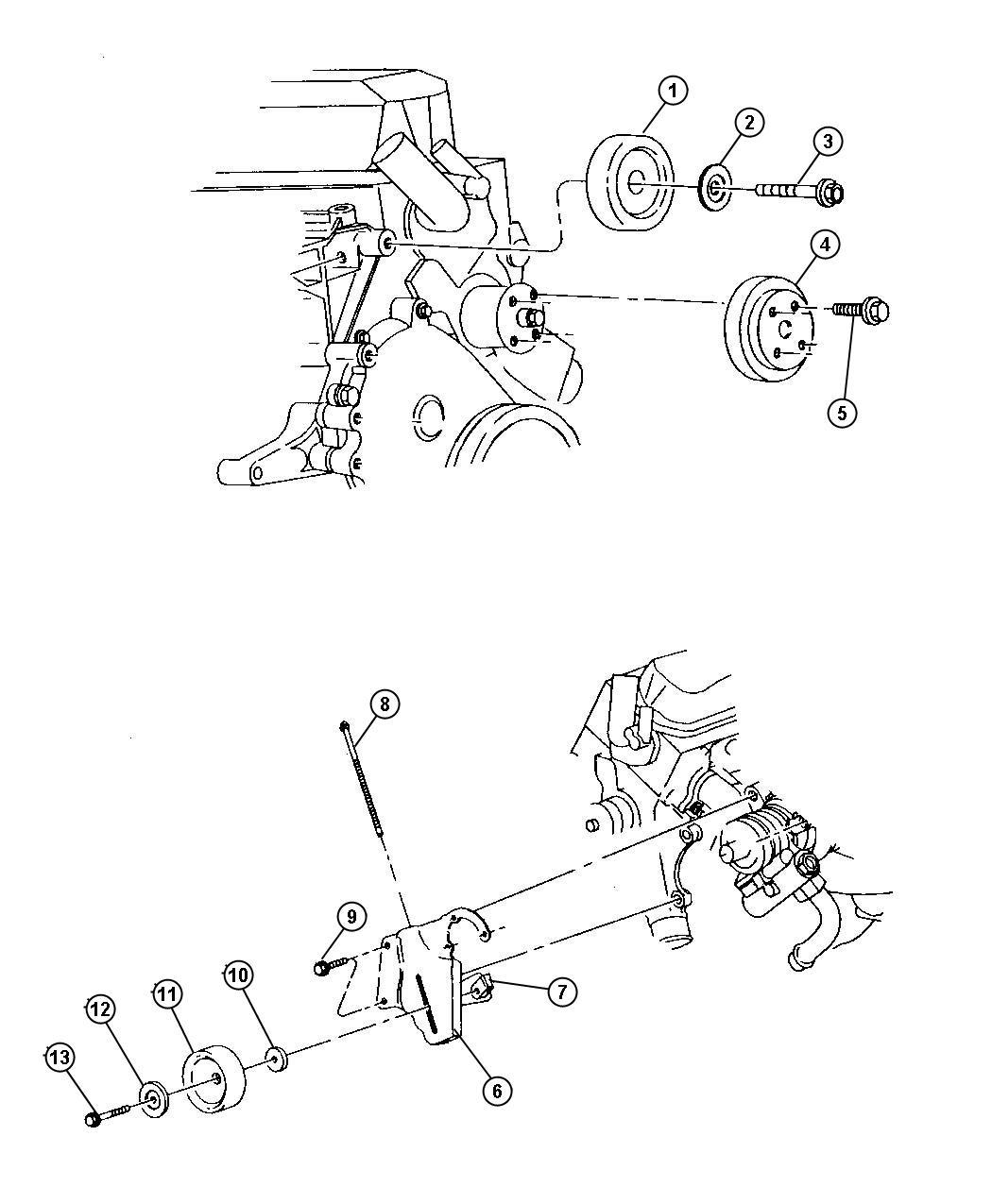 2000 Jeep Wrangler Bolt. Adjusting bracket. Pumppower