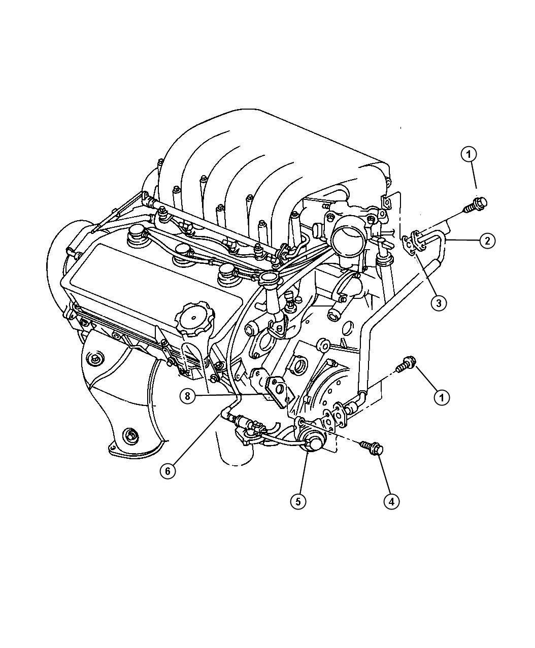 2000 Chrysler Cirrus EGR System 2.5L Engine