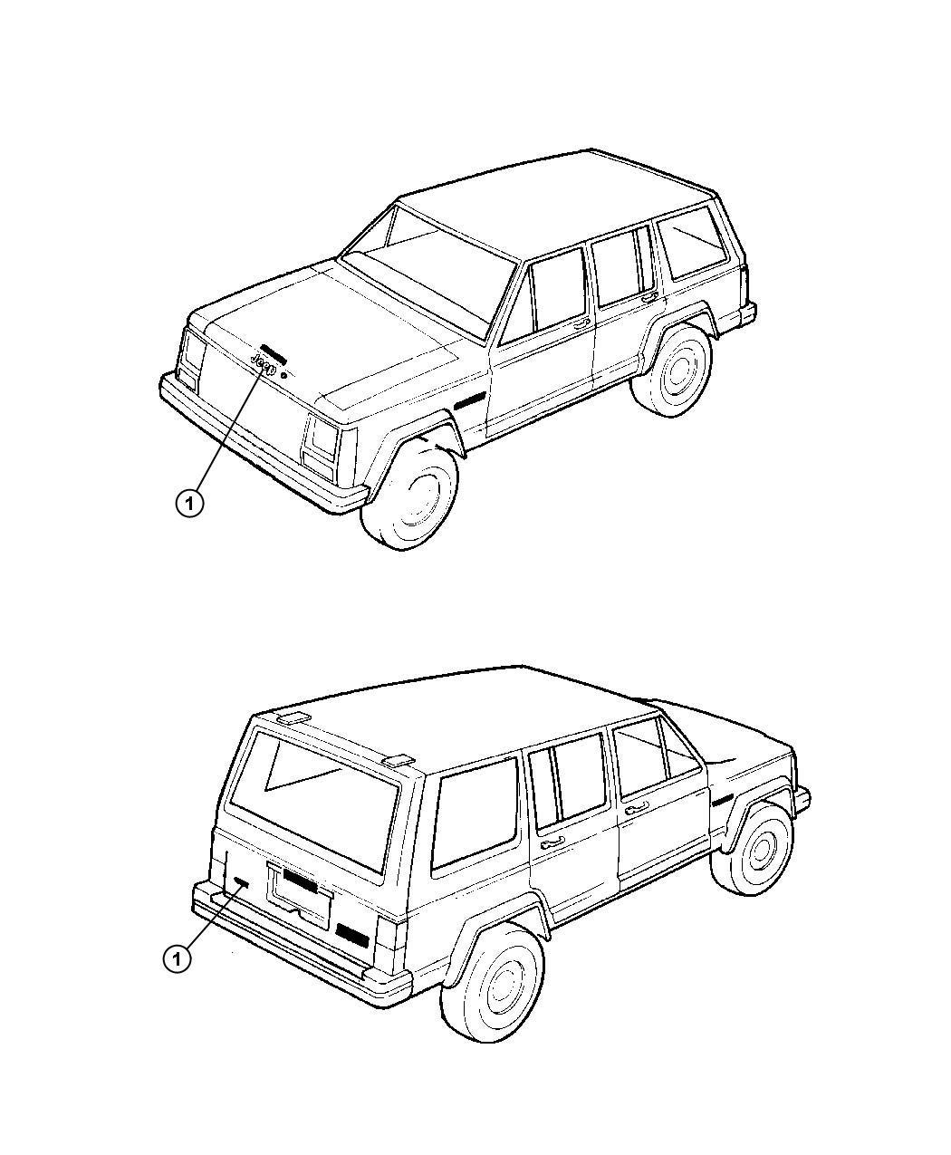 Jeep Nameplate Jeep Color No Description