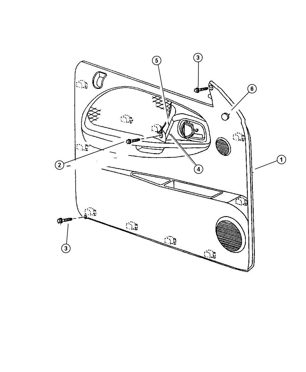 [1995 Chrysler Concorde Driver Door Latch Repair Diagram