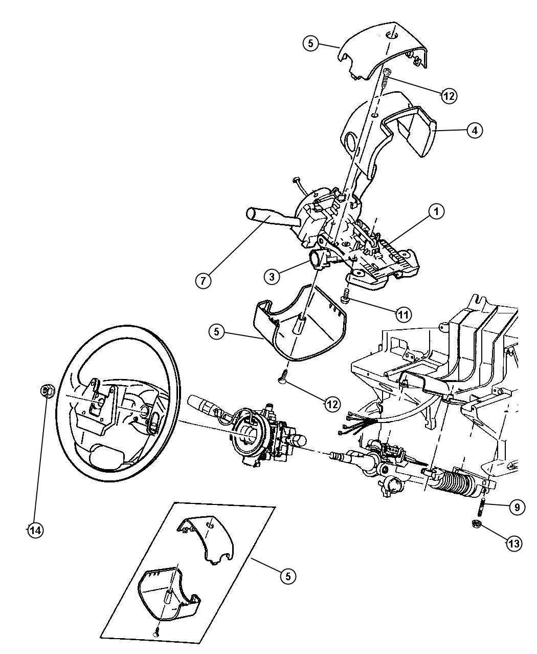 jeep wrangler steering column diagram 5 pin mini usb wiring yj wheel free engine image