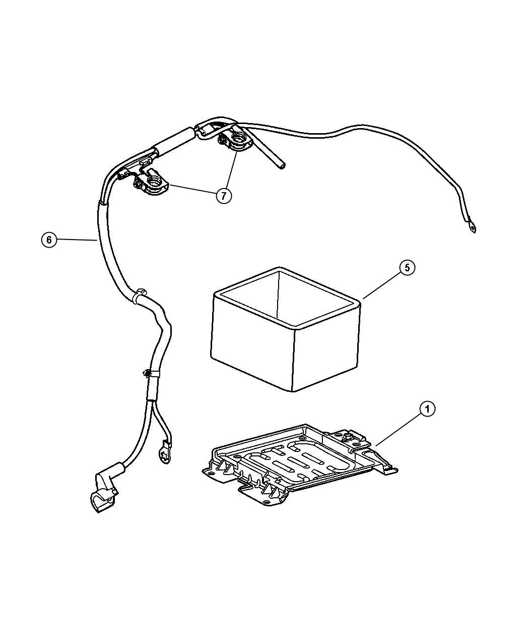 Chrysler Town & Country Terminal. Positive battery cable