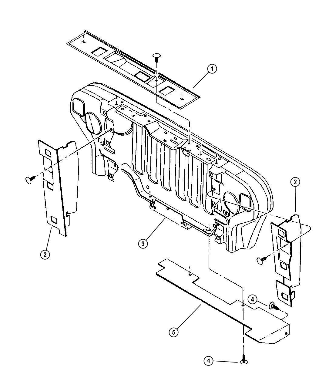 1999 Jeep Wrangler Seals, A/c Condenser.