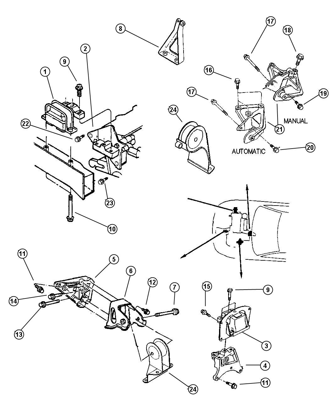 2004 dodge 2 7 engine diagram bmw e46 airbag wiring stratus 4l dohc get free image