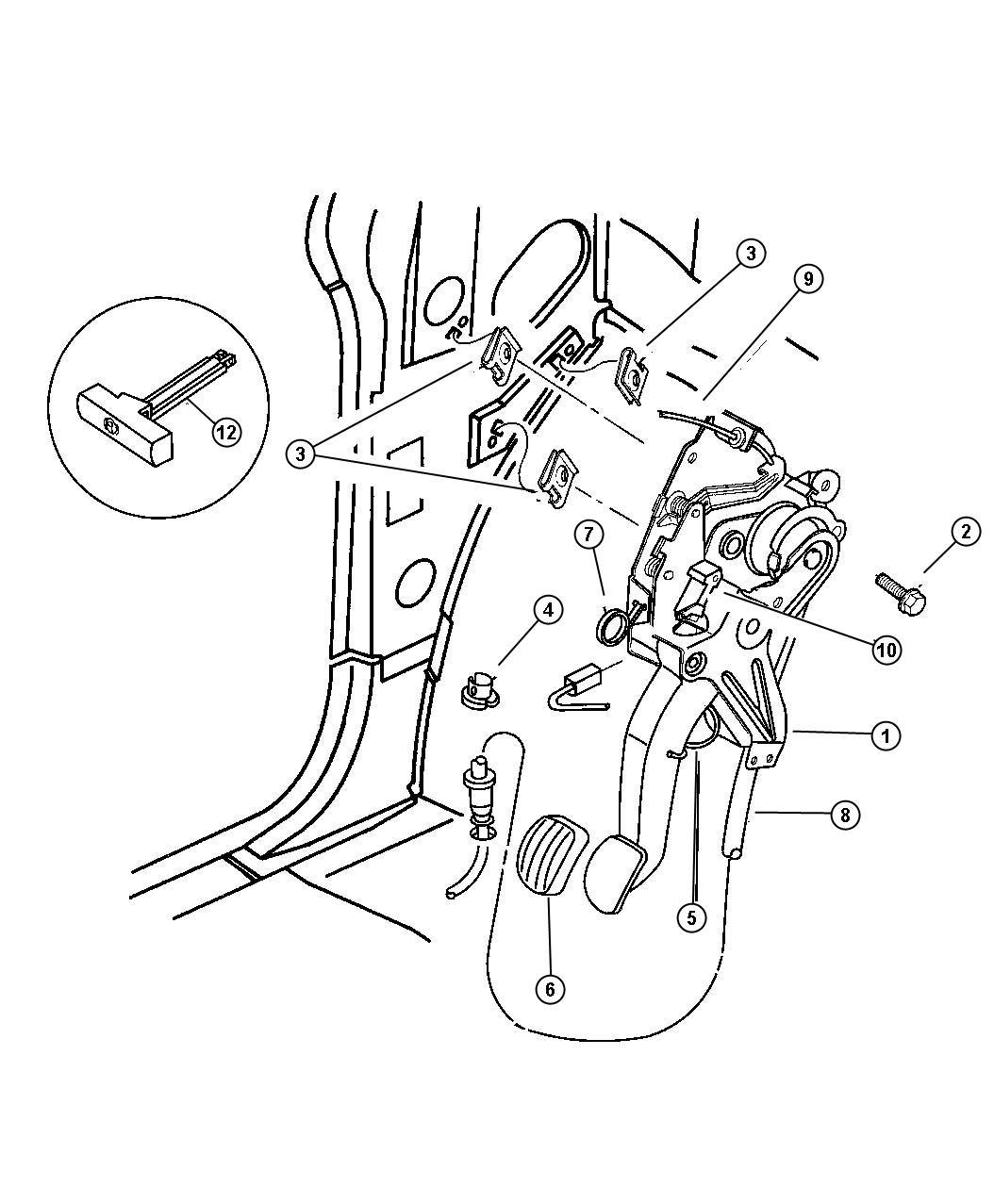 Dodge Caravan Cable. Parking brake. Dgl-release, with auto