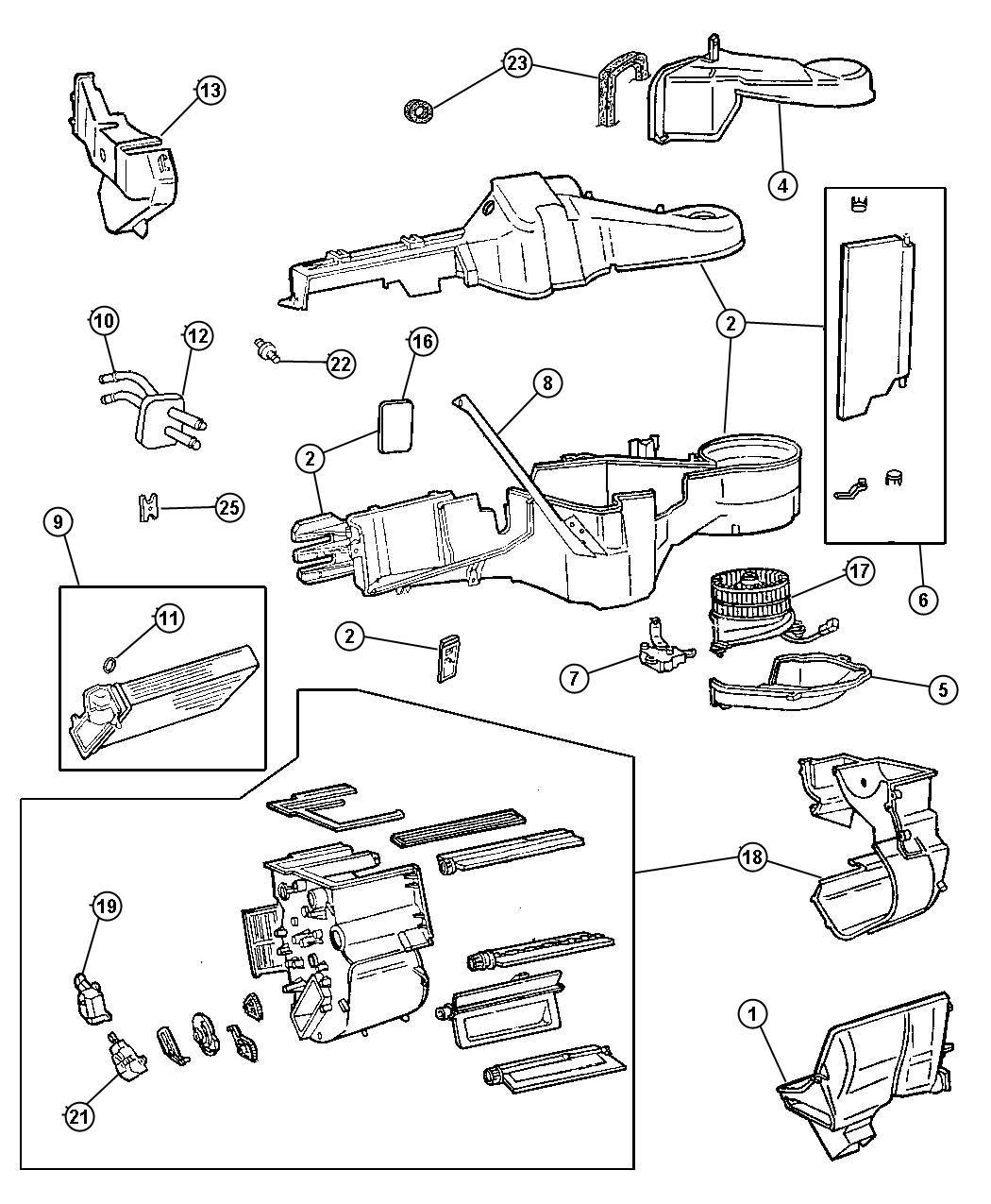 2000 Dodge Grand Caravan Actuator. Recirculation door. Hca